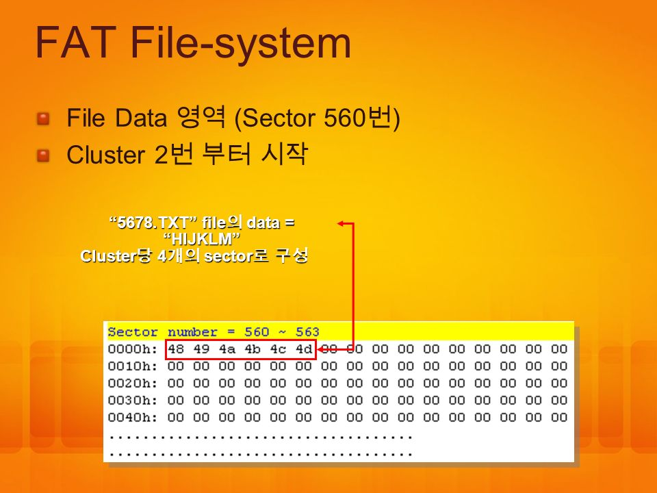 5678.TXT file의 data = HIJKLM