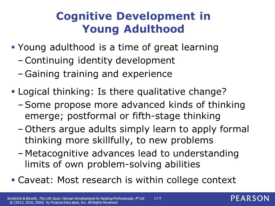 cognitive development in young adulthood