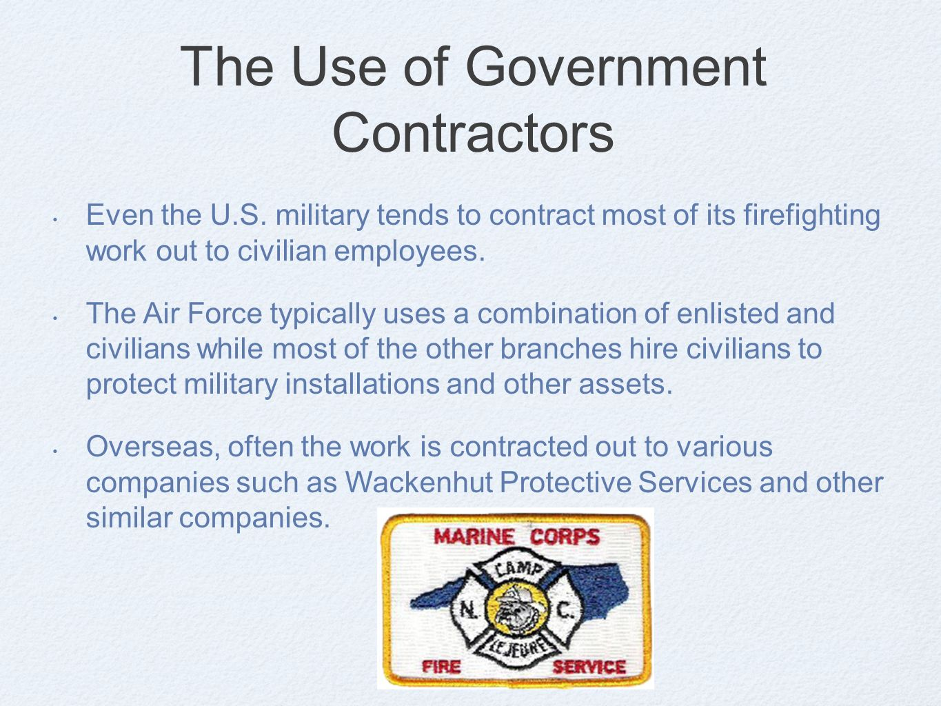 Public & Private Fire Prevention Organizations and Functions