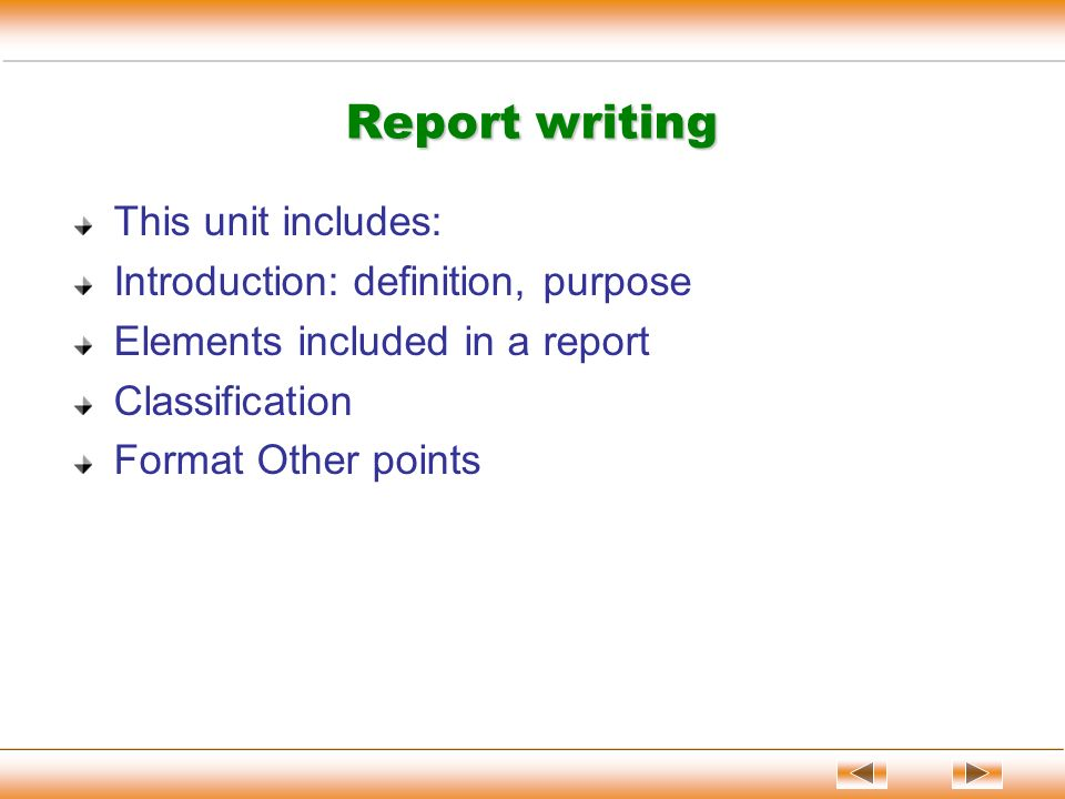 English report writing ppt video online download.
