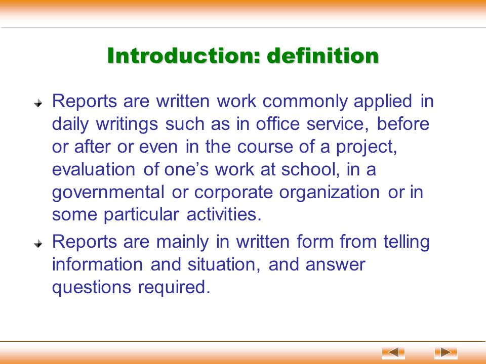 definition in writing
