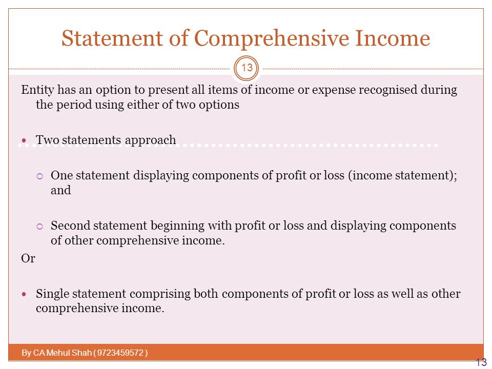 IAS 1– Presentation of Financial Statement By : Mehul Shah - ppt ...