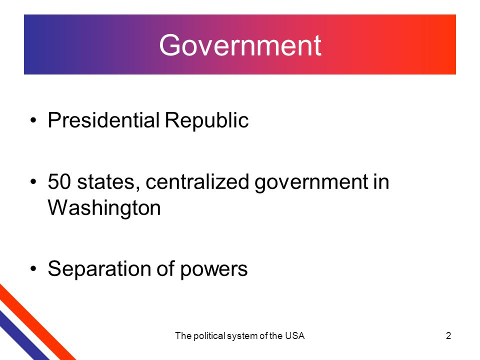 Country presentation united states.