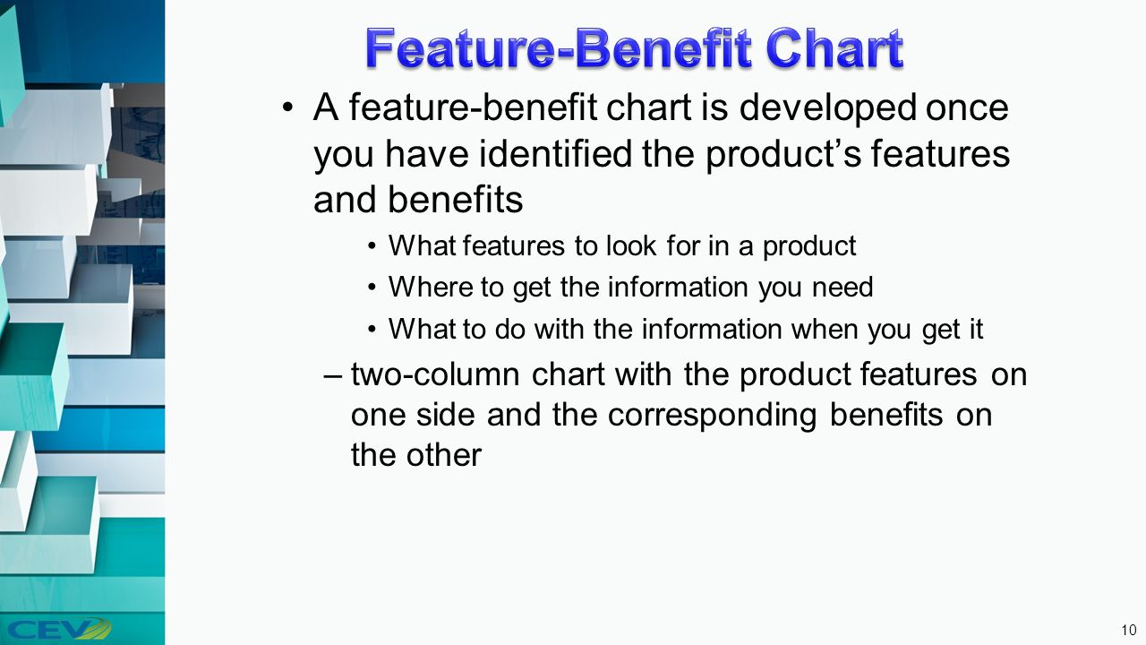 10 Feature Benefit Chart