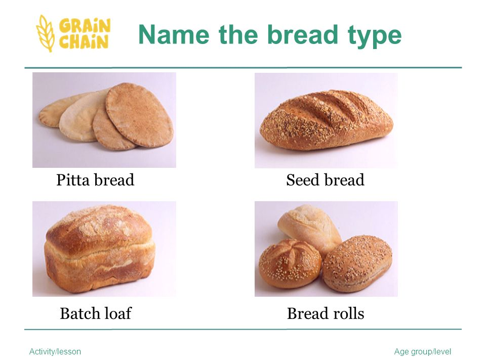 9 Name The Bread Type Pitta Seed Batch Loaf Rolls