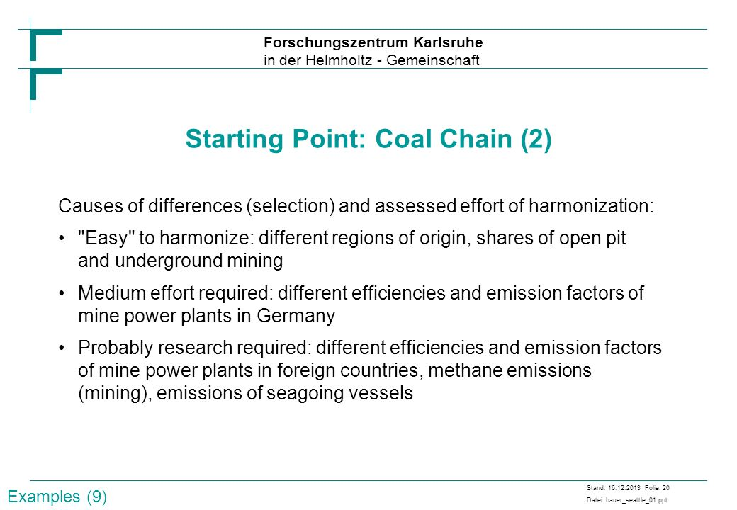 Starting Point: Coal Chain (2)
