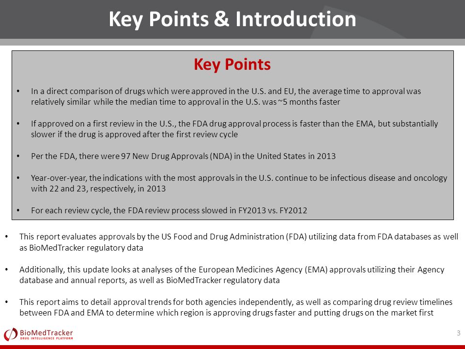 2013 FDA and EMA Approval Report - ppt download