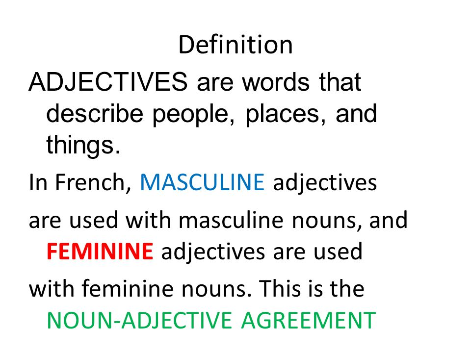 Les Adjectifs Adjectives Ppt Download