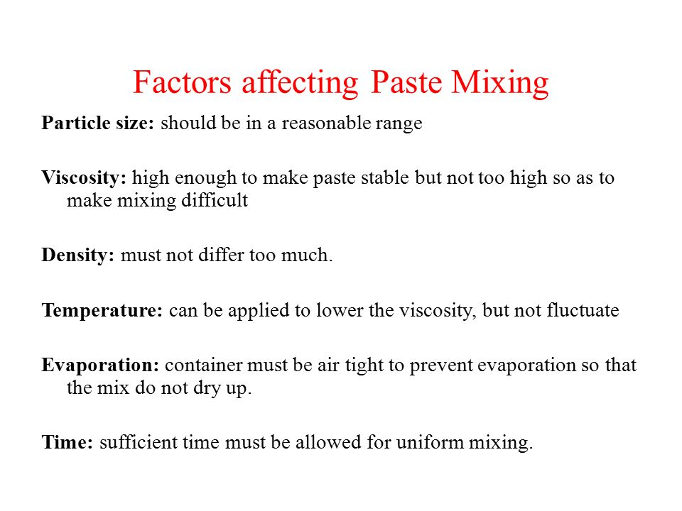 Paste Mixing Ashis Kumar Podder  - ppt download