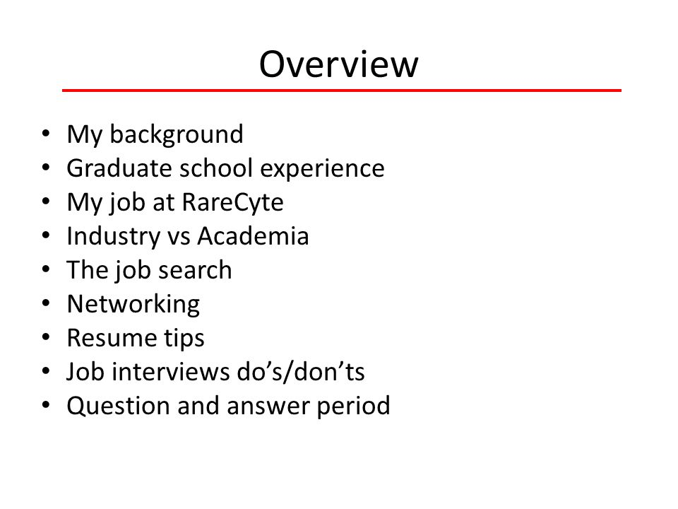 Getting That Fist Biotech Job Stories From A Recent Graduate Ppt