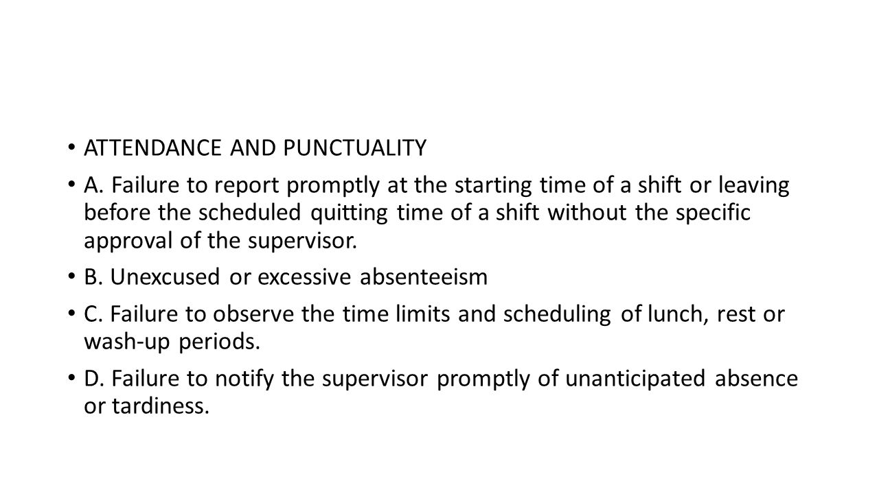 punctuality in the workplace definition