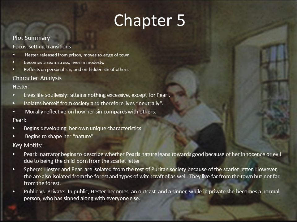 The Scarlet Letter Chapters ppt