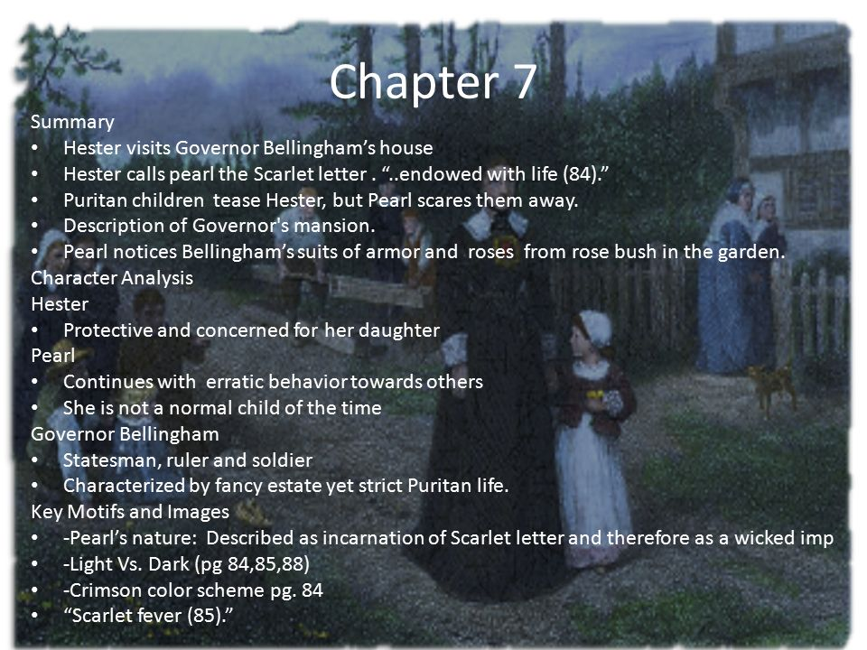 the scarlet letter chapter 8 summary the scarlet letter chapters ppt 25228