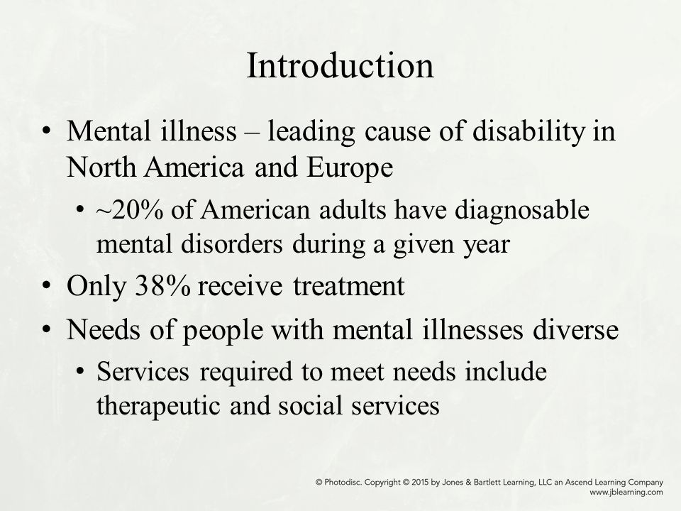 Mental Disorders Among Leading Causes >> Chapter 11 Community Mental Health Ppt Download