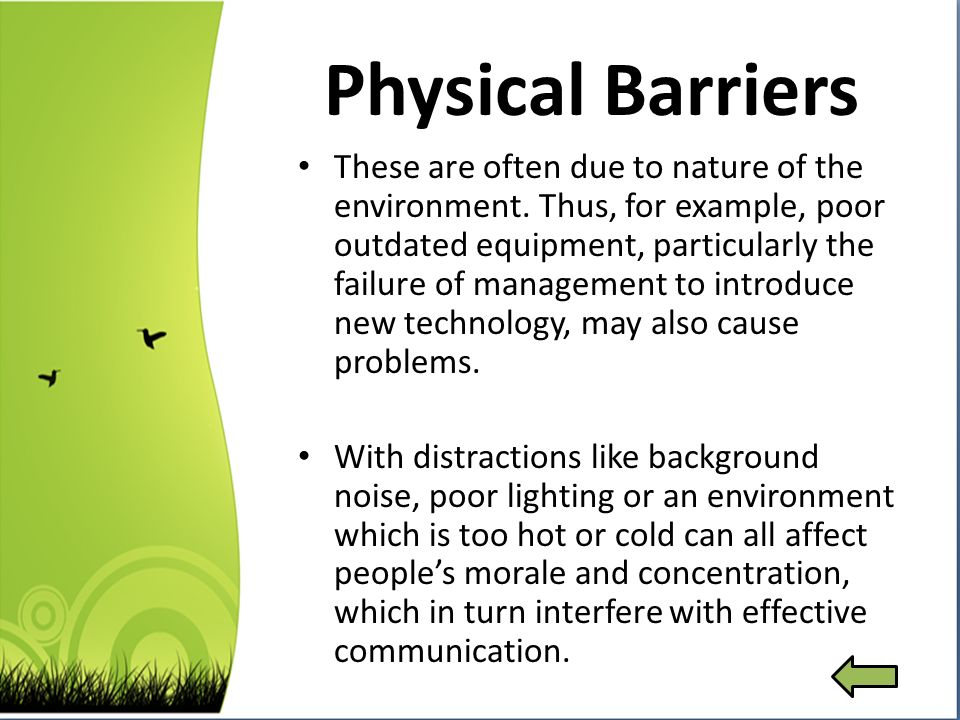 examples of psychological barriers to effective communication