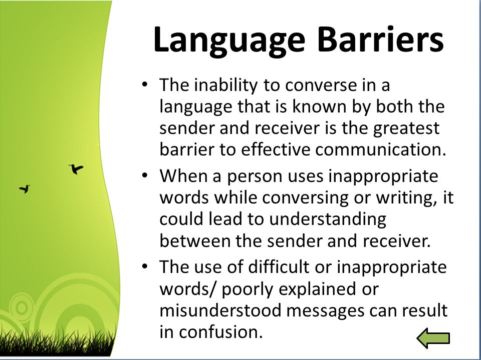 language barriers to effective communication