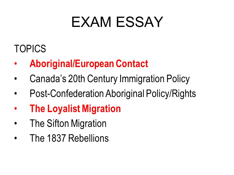 Exam essay ppt download