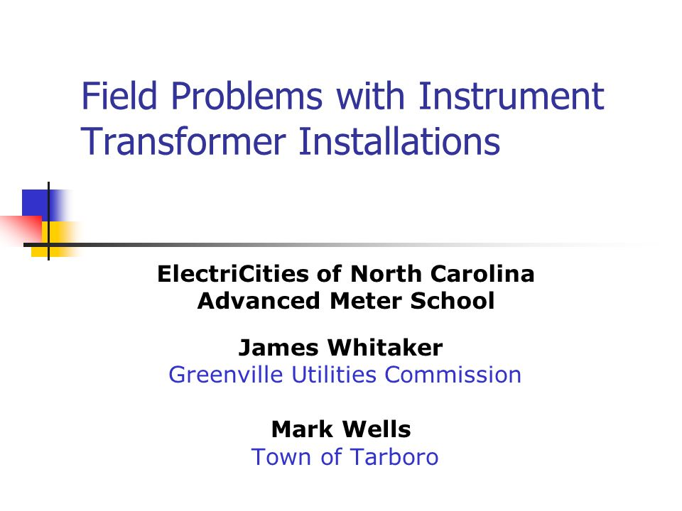Field Problems with Instrument Transformer Installations