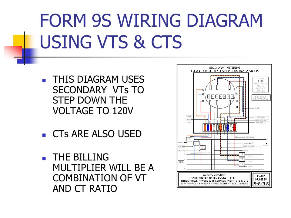 form 9s wiring diagram using vts & cts