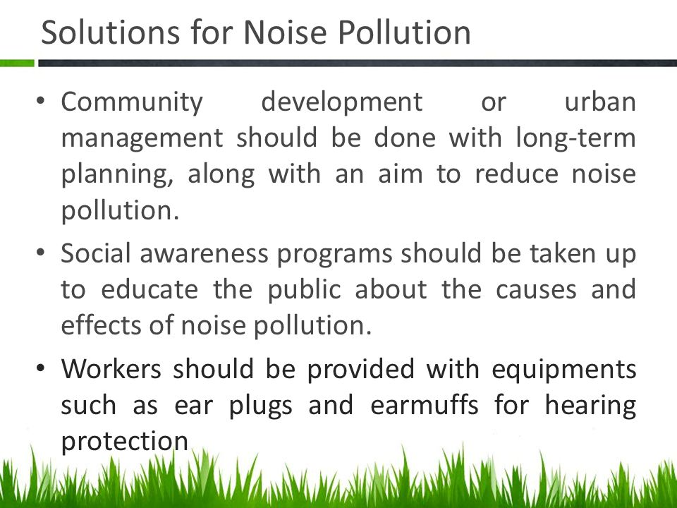noise pollution for kids