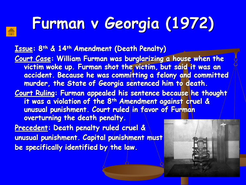 furman v georgia 1972 summary