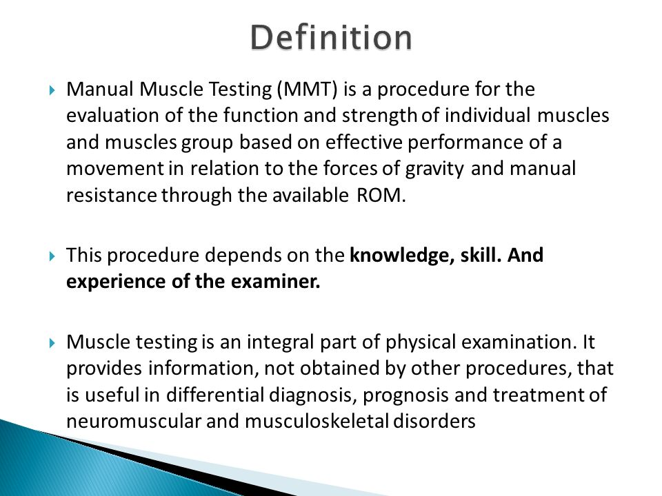 manual muscle testing ppt video online download rh slideplayer com reliability validity of manual muscle testing reliability validity of manual muscle testing