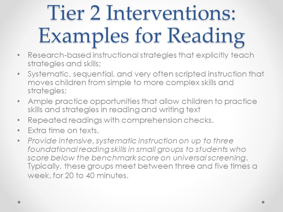 Interventions At The Elementary And Secondary Levels Math And