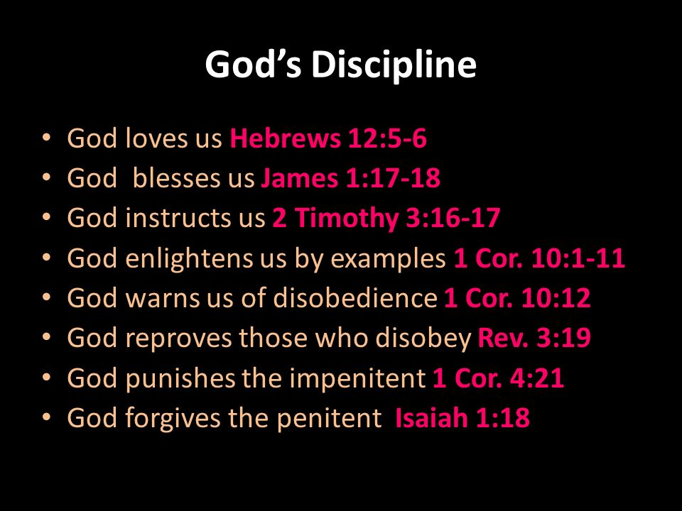 GOD'S DISCIPLINE Hebrews 12: ppt download