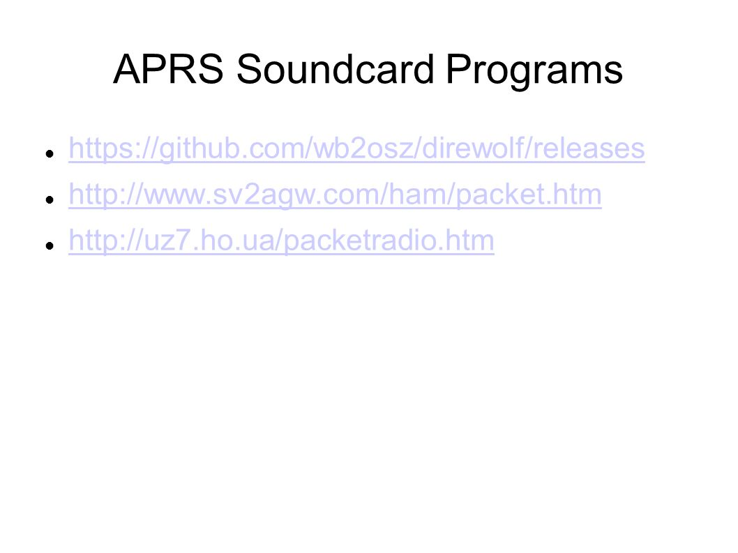 Audio Interfacing for APRS and Digital and SSTV modes - ppt video