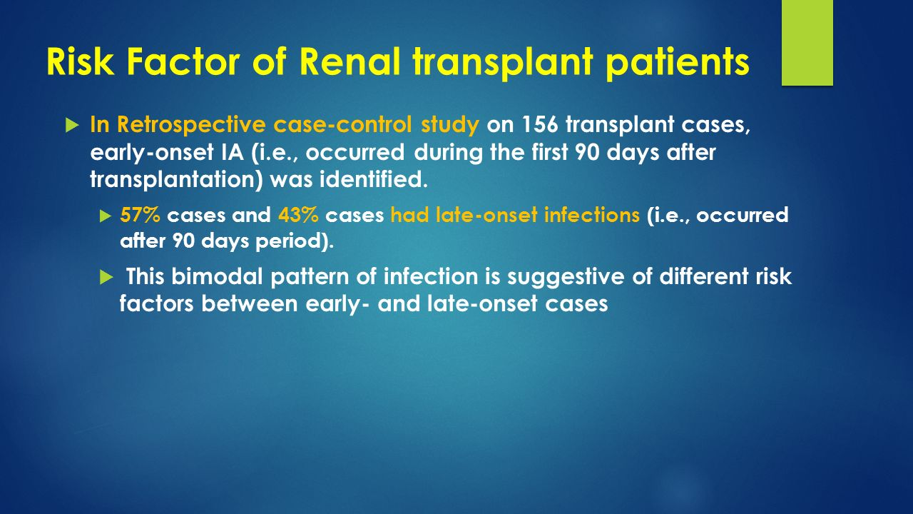 Risk Factor of Renal transplant patients