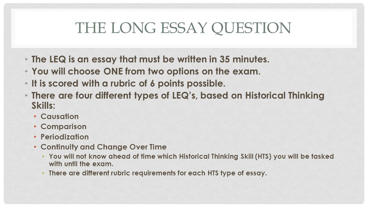 how to write a long essay