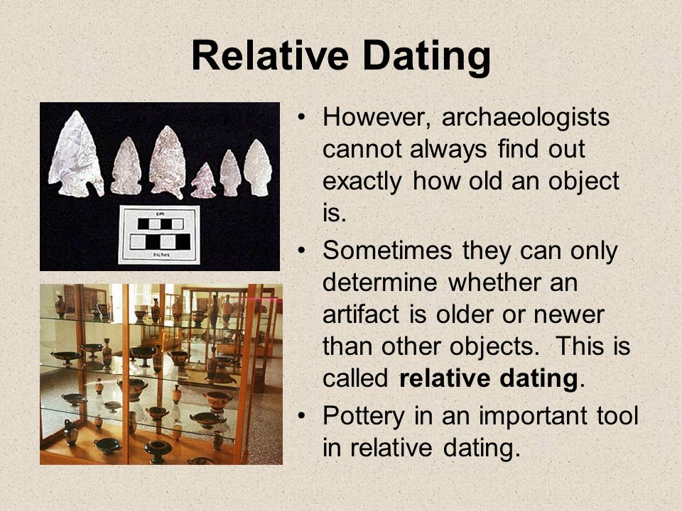 Importance of dating in archeology