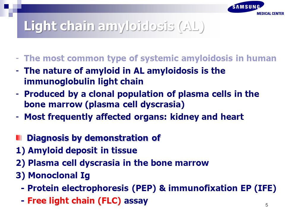 5 Light Chain Amyloidosis ...