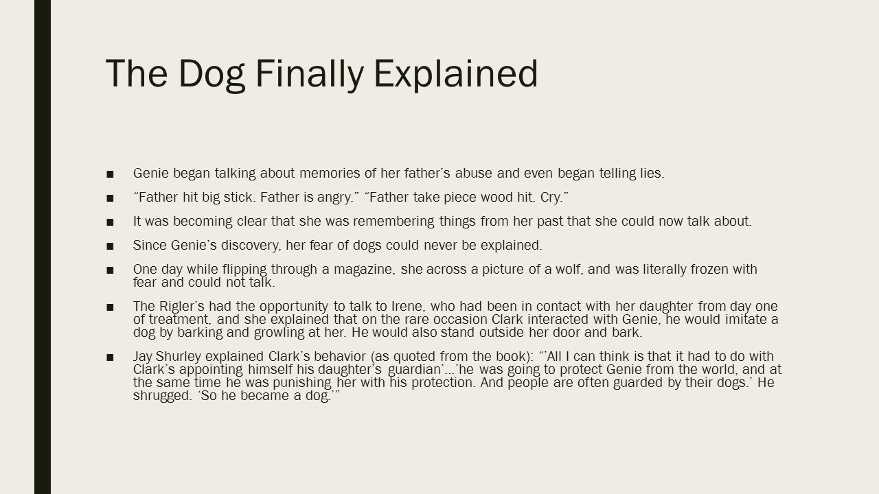 The Dog Finally Explained
