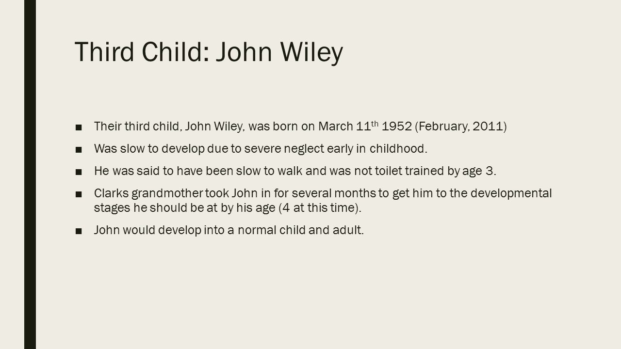 Third Child: John Wiley