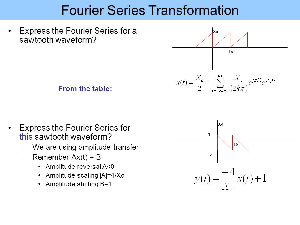 Fourier Series & Transforms - ppt video online download