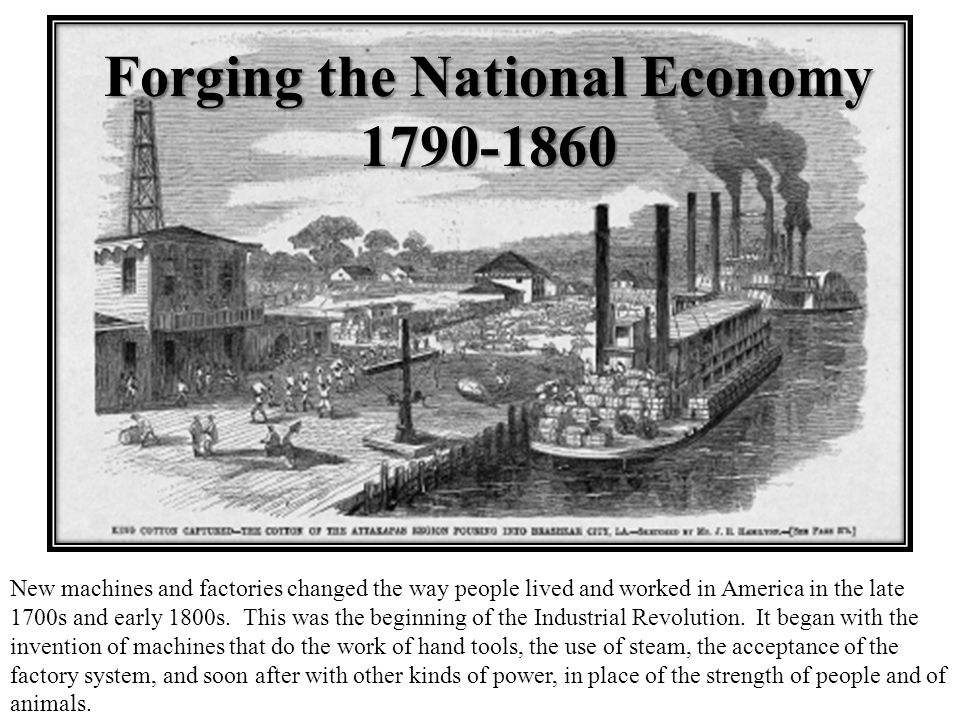 the growth of u s economy between 1790 and 1860 essay This essay's thesis addresses the growth of manufacturing in the north and agriculture in the south, but it strays from the impact of the market revolution while the essay contains a lot of specific facts from the.