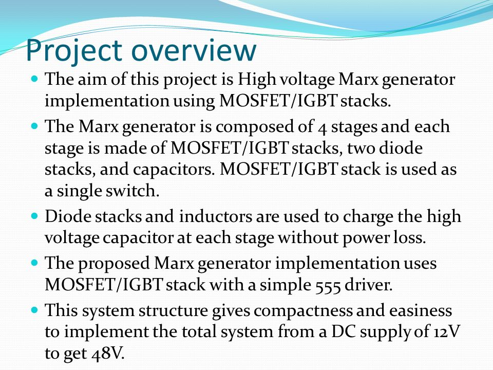 HIGH VOLTAGE DC BY MARX GENERATOR PRINCIPLES - ppt video online download