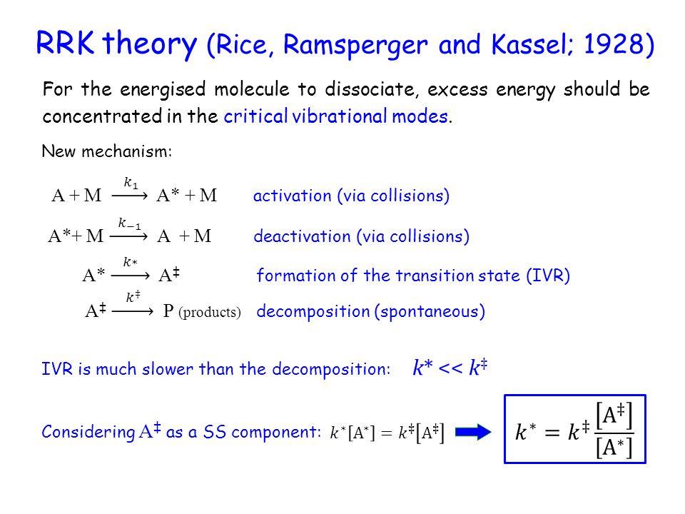 Theories of unimolecular reactions - ppt video online download