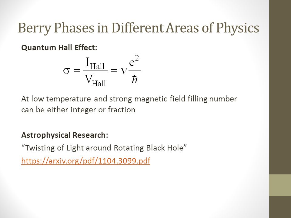 Berry Phases In Physics Ppt Video Online Download