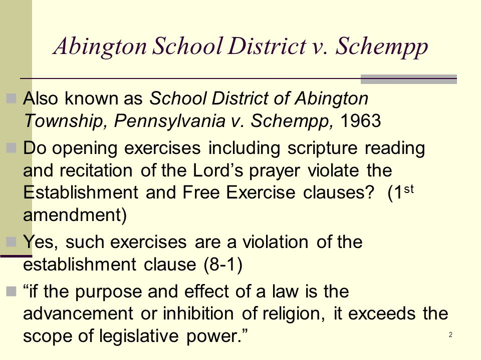 abington school district vs schempp