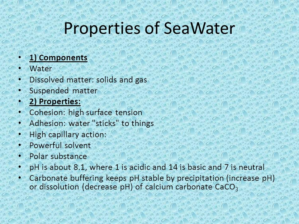 Chemical Amp Physical Properties Of Seawater Ppt Video