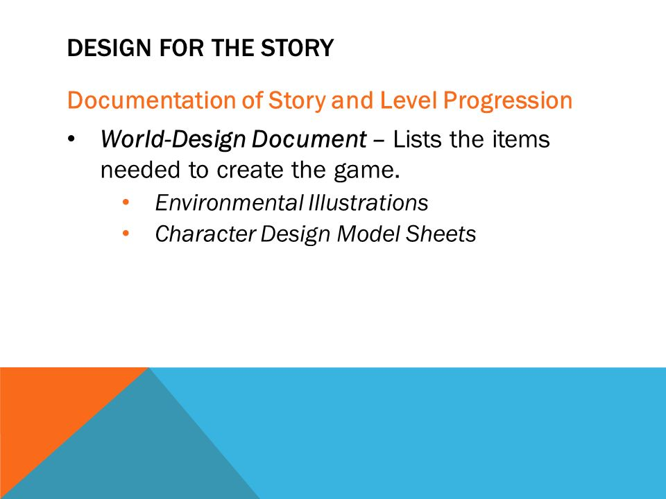 Story Composition Pt Game Design Ppt Video Online Download - Character design document