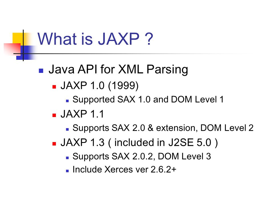 Java Api For Xml Processing Ppt Video Online Download