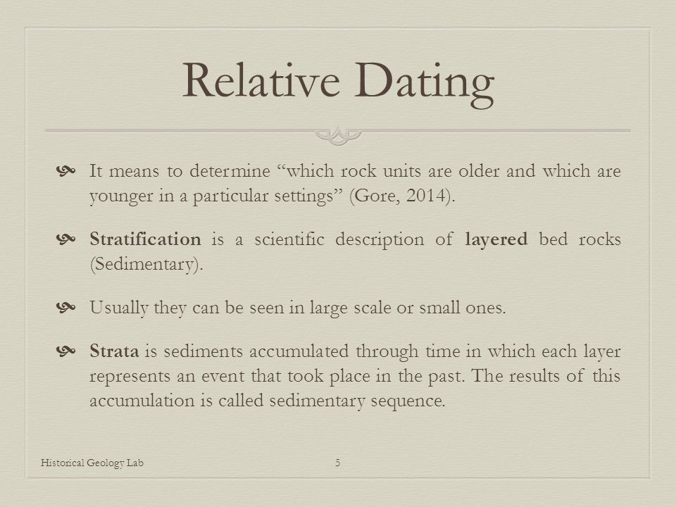what is the scientific definition of relative dating