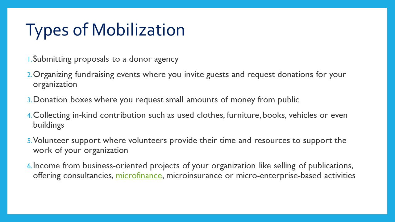 What is mobilization