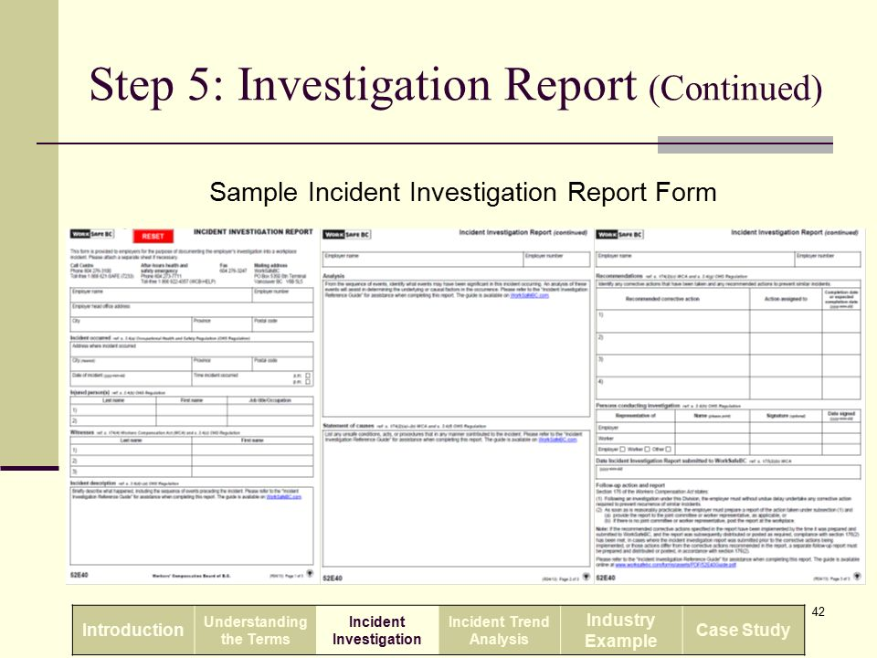 Incident Investigation And Reporting Ppt Download