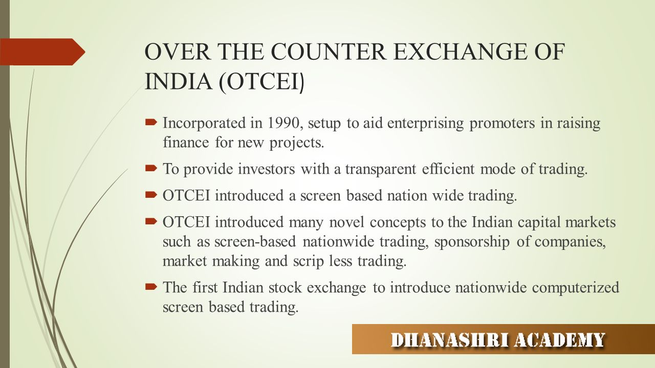 essay on stock exchange of india The national stock exchange of india came into existence in the year 1992 it was the first demutualised electronic exchange of india nse india made it possible for traders across the country to carry out trading of stocks with its fully automated screen-based electronic trading system.