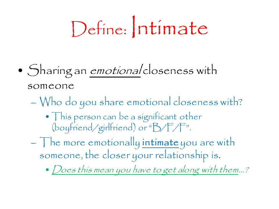 how to be emotionally intimate