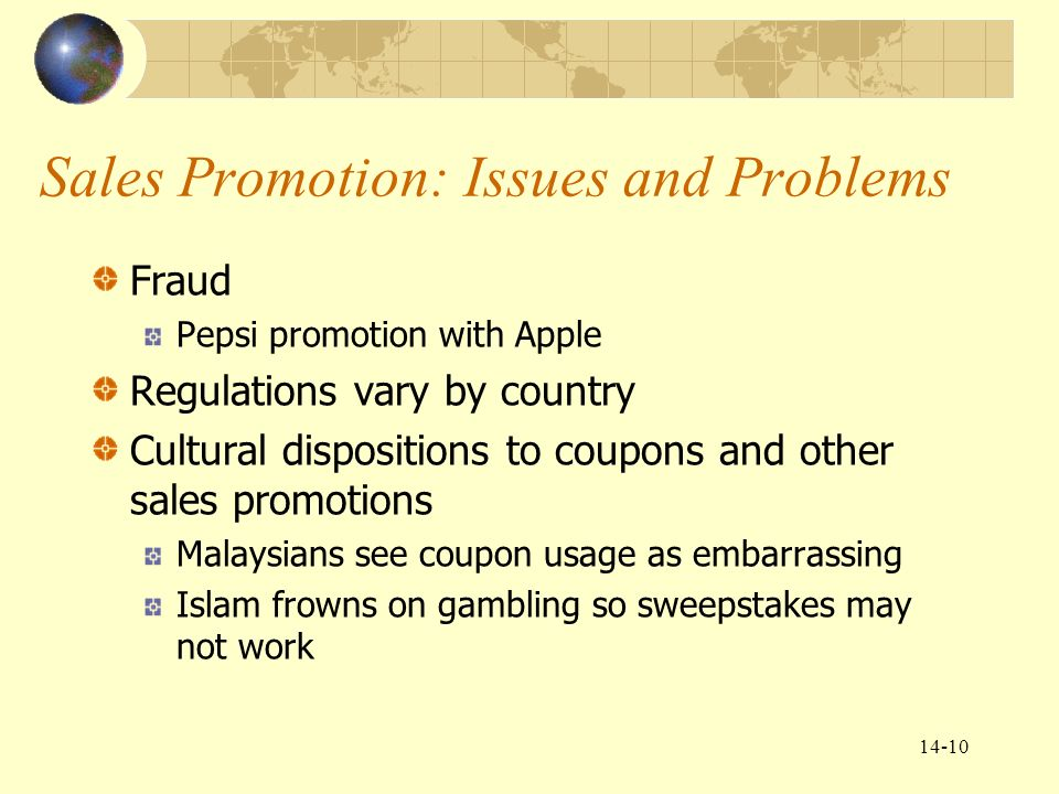 advertising personal selling coupons and sweepstakes are forms of chapter 14 global marketing communications decisions ii 8747